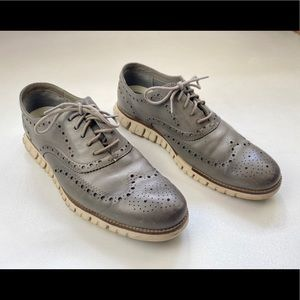 Cole Haan ZeroGrand Wingtip Oxford Ivory Leather